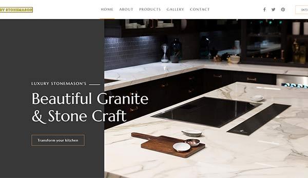 web design Melbourne for Local stone mason