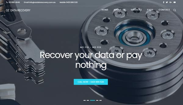 Web design Melbourne for IT Services website